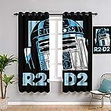 Star Wars Ikonen Poster R2-D2 Isolierte Vorhänge B72 x L63