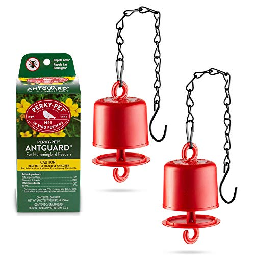 Ant Guard For Hummingbird Feeders - Repels Ants - Perky Pet Ant Guard Set of 2 - Bundled With 2 Sewanta Bird Feeder Chains - (4 Pcs Set)