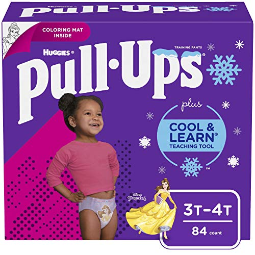 Pull-Ups Cool & Learn Girls' Training Pants, 3T-4T, 84 Ct