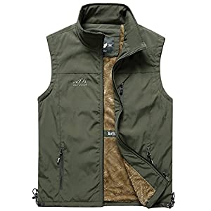 Men's Outdoor Light Weight Full Zip Fleece Outerwear Vest