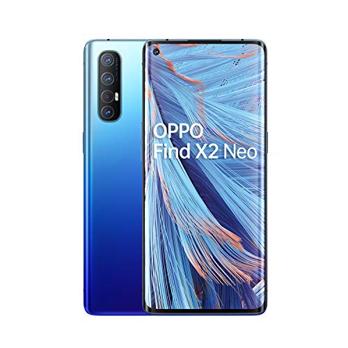 OPPO Find X2 Neo Smartphone , Display 6.5'' AMOLED, 4, Fotocamere,256GB NON Espandibili, RAM 12GB, Batteria 4025mAh, Single Sim, 2020 [Versione italiana], Starry blue