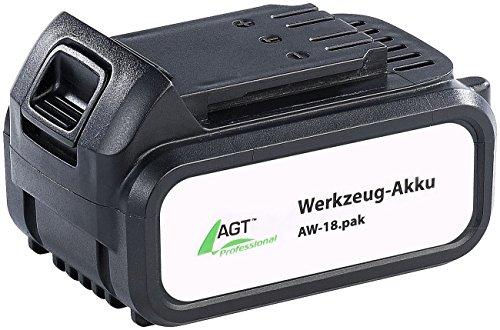 AGT Professional Zubehör zu Wechsel-Akku: Li-Ion-Werkzeug-Akku AW-18.pak, 18 V/4000 mAh (Zusatzakkus)