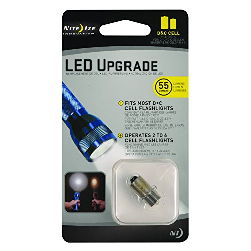 Nite Ize lamp LED upgrade-conversielamp II C en D batterijen, NI-LRB2-07-PR