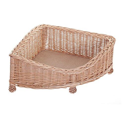 e-wicker24 EIN Lager aus Weide für einen Hund/eine Katze, EIN Liegestuhl für Tiere, Katzenlager/Hundlager, Hundebett/Katzenbett