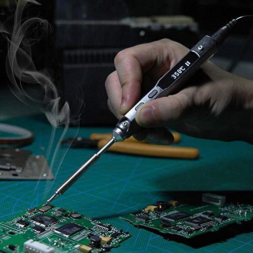 夏の楽しみ電気はんだごて、TS100はんだごてミニポータブルプログラマブルインテリジェントコントロールデジタル電気はんだごてPCB修理ツール溶接ツール(TS100-I)