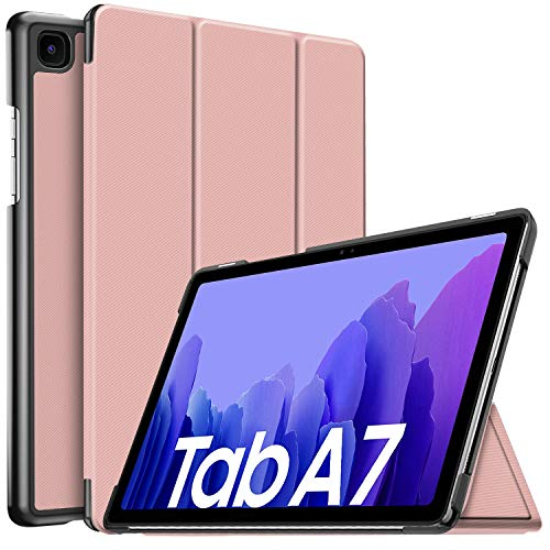 IVSO Hulle Kompatibel mit Samsung Galaxy Tab A7 104 2020 Schlank Slim Hulle Schutzhulle Hochwertiges PU mit Standfunktion Samsung Galaxy Tab A7 T505T500T507 104 Zoll 2020 Rose Gold