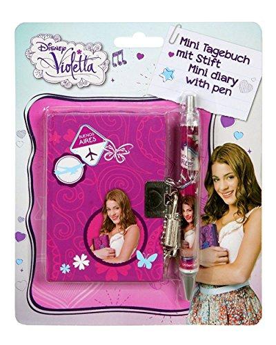 Violetta Tagebuch mit Stift / Mini Tagebuch mit Schloß und Stift