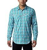 Columbia Men's Silver Ridge Lite Plaid Long Sleeve Wicking Shirt, Clear Water Grid Plaid, 3X