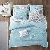 Intelligent Design Toren Complete Bag Tufted Embroidered Comforter with Sheet, Season Bedding Set, Twin, Aqua