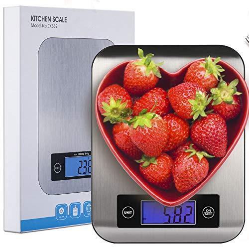 OTISA Küchenwaage Digitalwaage Professionelle Waage Electronische Waage, Küchenwaage mit LCD Display-wunderbare Präzision auf bis zu 1g