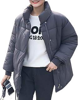 maweisong 女性冬のパフジャケットショートスタンドカラーダウンコート