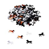 Oblique Unique® Lot de 350 confettis en forme de cheval - Décoration de table pour enfants - Pour fête d'anniversaire