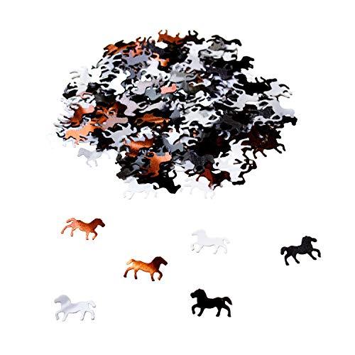Oblique Unique® Pferd Konfetti über 350 STK. Streu Deko Tischdeko für Kinder Geburtstag Party Feier