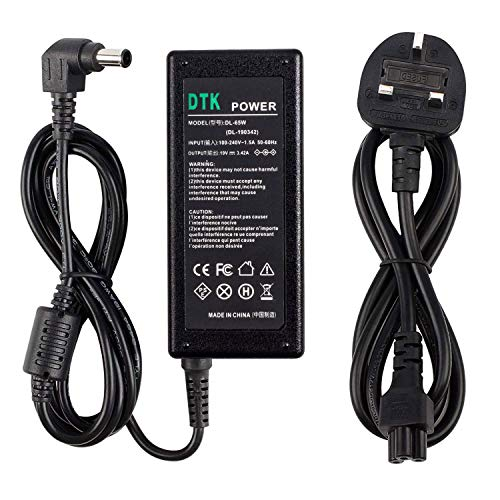 DTK AC Adapter Charger 19V 3.42A 65W for LG Monitor LCD LED HD TV Widescreen Flatron IPS236V IPS236-PN Compatible with 19' 20' 22' 23' 24' 27' Power Supply