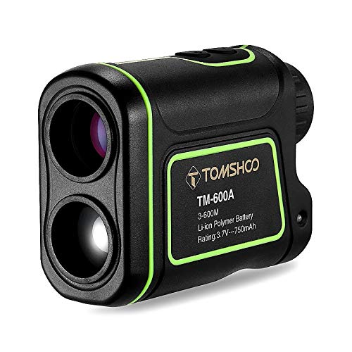 TOMSHOO Golf Rangefinder Waterproof Laser Hunting Range Finder for Measuring Distance Speed - 600M/1000M
