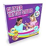 GirlZone Geschenke für Mädchen - Glitzer Tattoo Set Kinder Tatoos für Kinder Tattoos zum...