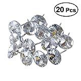 ROSENICE 20 Stücke 25mm Diamant Kristall Polster Nägel Reißzwecken Sofa Kopfteil Nähen Knöpfe Wanddekor
