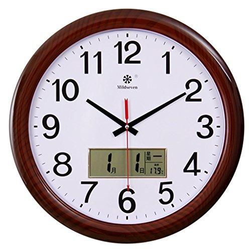Salon Horloge maison créative Horloge silencieuse Calendrier électronique multi-fonctions Grande horloge Quartz Horloge
