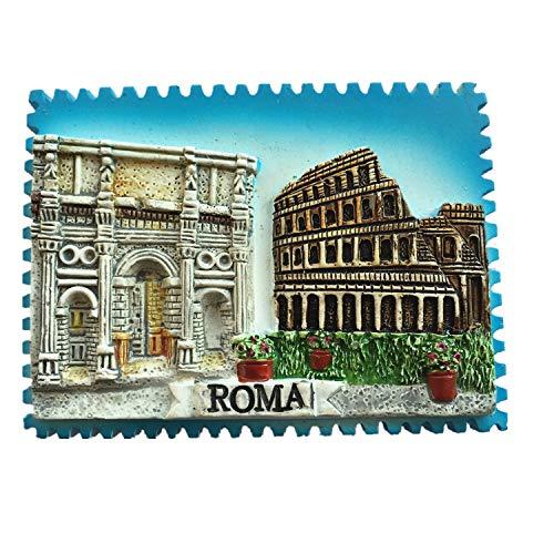 2 attrazioni di Roma Italia timbro stile 3D frigorifero magnete souvenir regalo decorazione casa e cucina adesivo magnetico Roma Italia frigorifero magnete