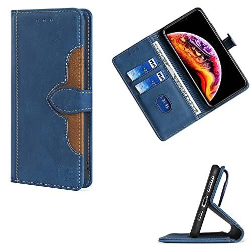 GKCCM Flip Funda para Samsung Galaxy A01 Dual Sim Sm-A015f Sm-A015g Sm-A015m Funda Carcasa Case Cover [Azul]
