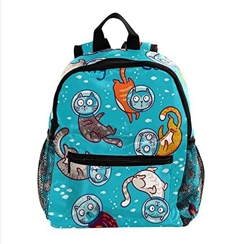Mini Mochila Monedero para Mujer Bolsa de Viaje gatos de buceo para el trabajo, escuela, al aire libre