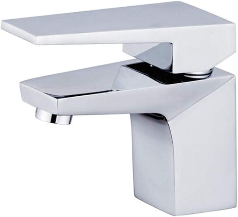 YINshop Wasserhahn, Moderne Küchenspüle Badezimmer Becken Home Commercial Single Handle Kupferhahn Hot Cold Mischen