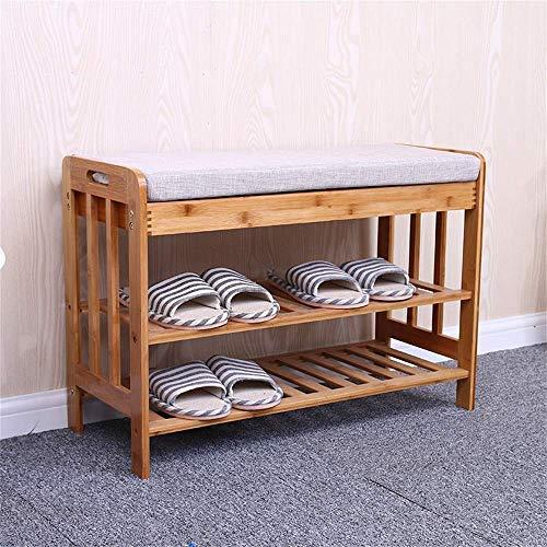 Bambú zapatero de múltiples capas Banco Europeo de calzado sólido zapato de prueba MuEBLE minimalista moderna zapatos de heces de almacenamiento de almacenamiento de las heces, 72x29x49cm, 72x29x49cm