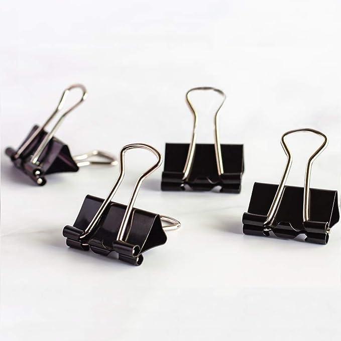 252 opinioni per Coideal Extra Small Binder Clips 15mm Mini Metal Bulldog Paper Clips Clamp (60