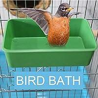 ZHAOCHUAN オウムバスタブ付きミラーペットケージ鳥ミラー風呂シャワーボックスバードケージペット小型鳥のオウムケージ鳥のおもちゃアクセサリー (Color : G)