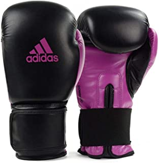 Luva de Boxe Muay Thai Adidas Power 100 Colors Preto/Rosa