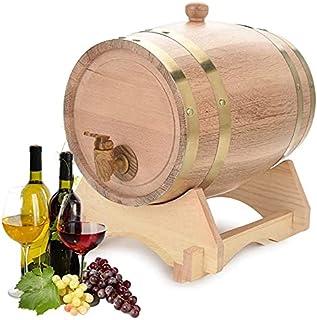 YBSY Distributeur de Baril de vin en chêne Vintage 5L / Bois de Bois/Baril de vinification pour bière, Whisky, Port de Rhum
