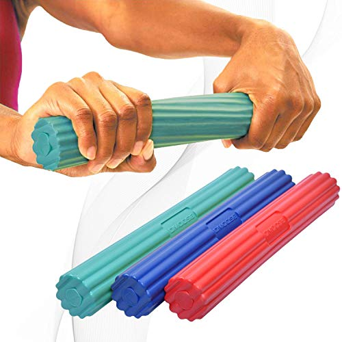 DMoose Fitness Flex Bar (3 in 1-Red, Green & Blue)