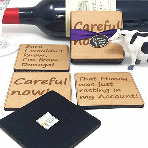 Fr.Ted Coasters gift set .Set of 4 classic Fr.Ted quotations for all father Ted fans-careful now!