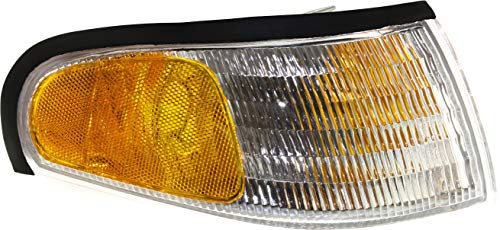 Evan-Fischer Corner Light Compatible with 1994-1998 Ford Mustang Plastic Clear &...