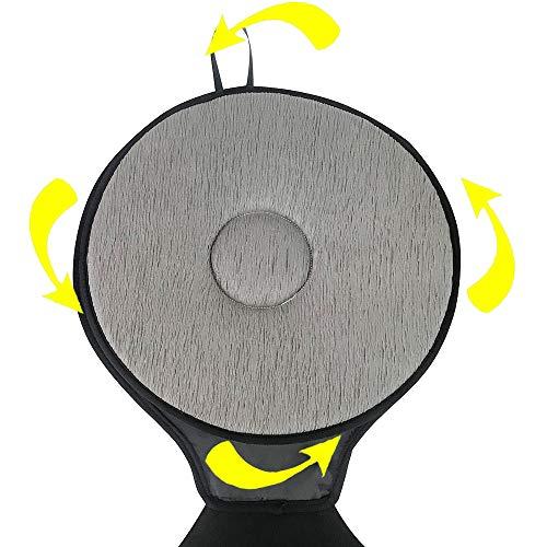 Non Slip Mat Comfortabele Draaitafel Pad, Verwijderbare Wasbare Opvouwbare bureaustoel Cushion, Geschikt voor Ouderen Of Mensen met verminderde mobiliteit Roterende Autostoel 1set Darkgray