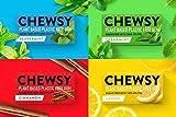 Chewsy Goma De Mascar Colección De Sabores| Chicles Naturales Sin Plástico | Chicles Sin Azucar Y Aspartamo | 100% Xilitol, Protege Los Dientes | Vegano 15g (Pack De 12, 120pcs.)