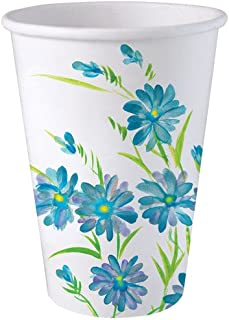 Nicole Home Collection 24 Count Everyday Paper Hot/Cold Cup, 12-Ounce, Blue Floral