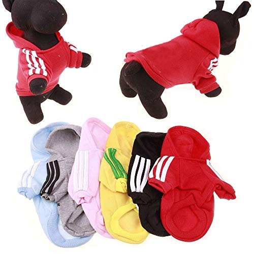 SUNXK Pet kleding hond kleren fleece hooded Adidas Adidas sweater hondenkleding SUNXK (Color : Red, Size : L)