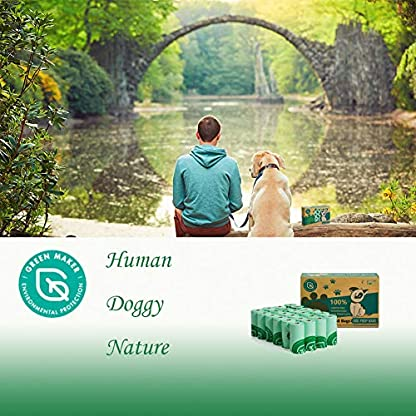 Green Maker Biodegradable 30% Thicker Dog Poop Bags 360 Dog Waste Bags Extra Thick Strong Made from Corn Starch Plants Based (Green) 4
