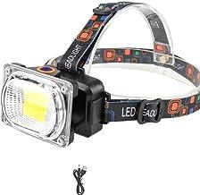 Koplamp Ultra Heldere USB Opladen COB LED Koplamp Outdoor Camping Vissen Koplamp Werk Licht Draagbare Zoeklicht Lantaarn Z...