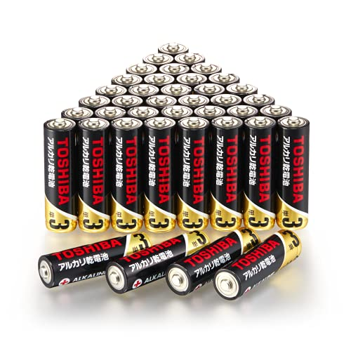 【Amazon限定】 東芝 アルカリZ 10年保存 アルカリ乾電池 単3形 40本パック LR6Z 40P