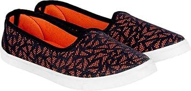Camfoot Women Canvas Black Casual Sneaker Shoe