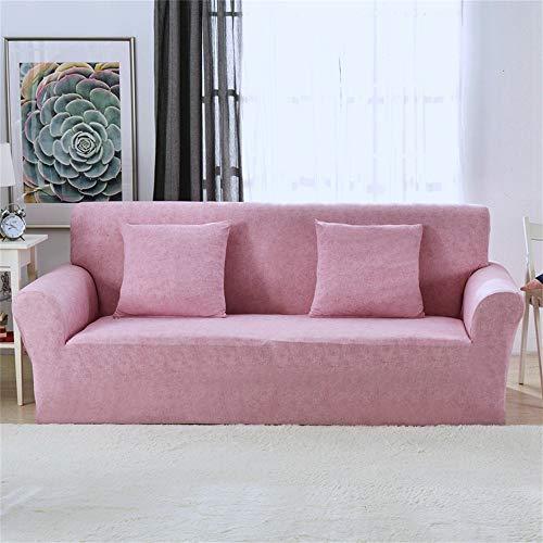 New_Soul 1-Pezzo Copridivano Sofa Cover Elasticizzato Jacquard per Casa Decorativa (Rosa, 2 posti)