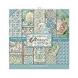 STAMPERIA Small Azulejos de Sueno - Bloc de papel (10 hojas, doble cara), Multicolor, 20.3 x 20.3 (8' x 8')