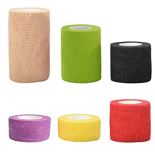 Vendas Autoadhesivas Cohesivas,6 Pack Elastica Adhesivas Tape Vendaje Cinta...