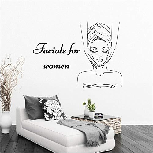 Xxscz Facials voor Vrouwen Logo Muursticker Spa Schoonheid Salon Decoratie Huidverzorging Center Vinyl Mural Lichaam Relax Massage Decal