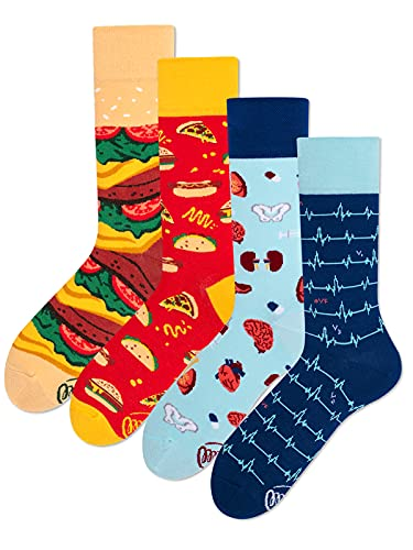 Many Mornings Unisex Socken Fastfood Medizin - 2er Pack - 35-38
