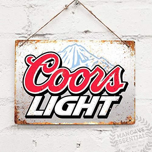 SIGNCHAT Coors Licht Bier Drink Vintage Tin Teken Metaal Decor Metalen Teken Muur Metalen Tin Teken 8X12 inch