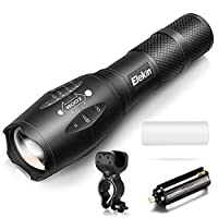 Elekin 懐中電灯 LEDライト 1000ルーメン フラッシュライト 単4電池 高輝度XM-L T6 IPX6防水 ズーム機能 5モード切替 アウトドア活動に最適