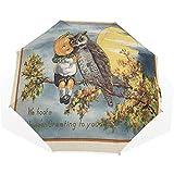 EW-OL Ombrello Giappone Luce Solare Foresta Giardino Notte Asia Mento Viaggi Golf Sole Pio...